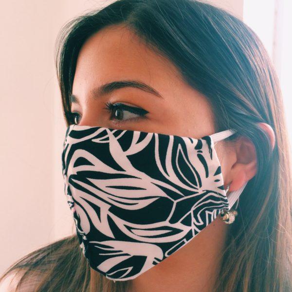 Masque en tissu Rose noire